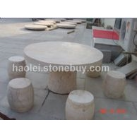 黄木纹砂岩石桌