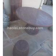 紫木紋圓桌椅
