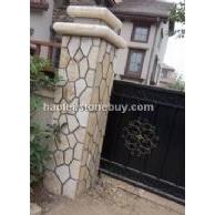 黄木纹门柱