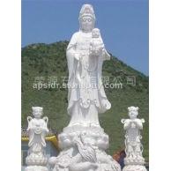 供应石雕佛像 童子人物雕刻 观音佛像雕刻