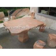 晚霞红石桌石凳