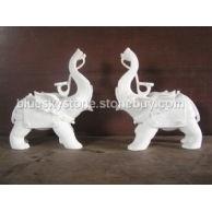 汉白玉石象