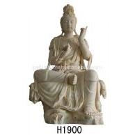 仿砂岩观音像,中式佛像雕塑,砂岩雕塑