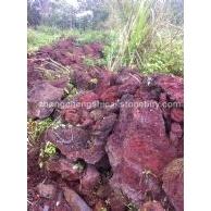 红色火山石荒料