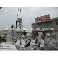 石雕人物喷泉
