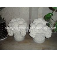 山西砂岩花盆雕塑