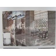 浅灰色石材木纹玉大板