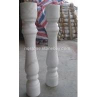 广西白大理石楼梯花瓶柱