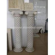 米黄石材纽纹石柱