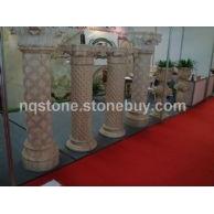 洞石雕刻圆柱
