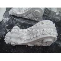 白色大理石雕花