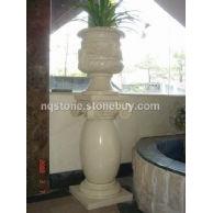 鼓形石材圆柱(雕刻花盆)