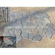 黄木纹6块网贴石材 碎拼石材 乱片 地面墙面铺装均可 厚度可选