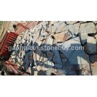 锈板乱形装车图 散装 碎拼石材 量大优惠 来电咨询