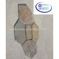 4锈斑5块网贴 锈色冰裂纹石材 专业加工 代工各种石材碎拼 冰裂纹石材加工
