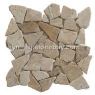 洞石乱拼马赛克 中国洞石 文化石 石材马赛克