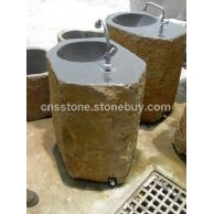 六方石洗手盆