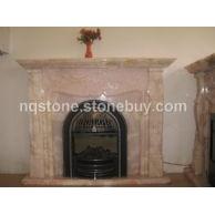 粉红玉石欧式雕刻壁炉架PINK ONYX FIREPLACE