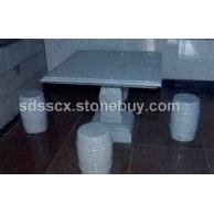 鲁灰石桌石凳