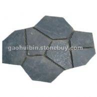 3 青灰色碎拼石材 园林铺路石材欢迎来电咨询