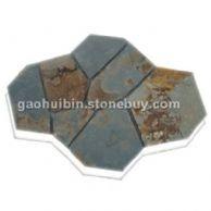 园林碎拼石材 铺装园林地面 颜色鲜艳 品质坚硬 厚度按要求做 值得信赖