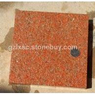 光泽红686花岗岩高源红映山红富贵红石材荔枝板