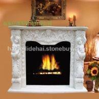 曲阳雕刻大理石欧式壁炉