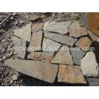 锈色乱型铺地石