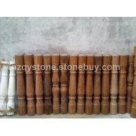 木紋大理石花瓶柱