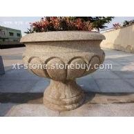 山东锈石异型花盆