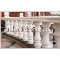 广西白云白圆形弧形阳台室外栏杆圆柱