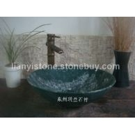 鲁山绿石材洗手盆