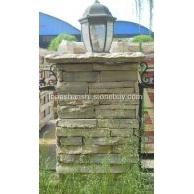 黄木纹柱子方形