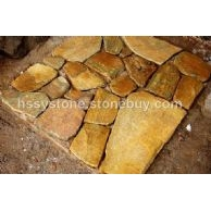 墻石地鋪石黃金銹石英亂形石密拼