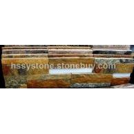 文化石銹石英加金屬條