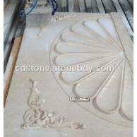石材水刀拼花,背景石材雕刻,石材线条