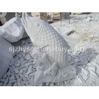 汉白玉雕刻品 鱼