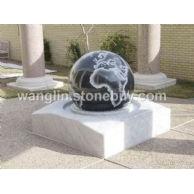风水球 芝麻白风水球 花岗岩风水球