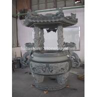 供应寺庙 青石 雕刻 香炉 牌楼 龙柱 山门
