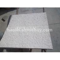 白砂岩自然面条纹板墙石