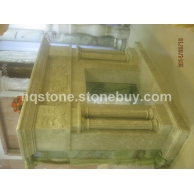 F-0150美国米黄大理石壁炉架