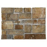 康雅文化石黄木纹墙石城堡石供应