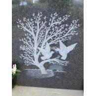 福鼎黑光面雕刻树鸟