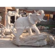 订做石雕大象 石象工艺品大象雕刻