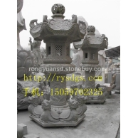 供应订做石雕石塔 雪见石灯 景观石灯雕塑