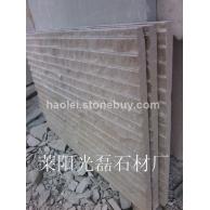 山东黄砂岩自然面条纹板 外墙干挂板