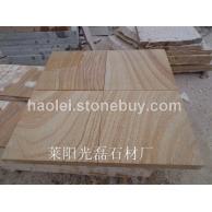 山东黄木纹砂岩板材 干挂板
