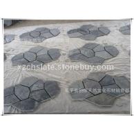 供应庐山网贴板岩文化石 园林景观石装饰材料 多边石材拼接石材