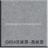 G654芝麻黑-荔枝面 G654芝麻黑花岗岩 G655芝麻灰花岗岩 G641乔治亚灰 芝麻白G603