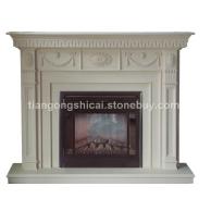 壁炉  手工壁炉   米黄壁炉    壁炉雕刻   进口石材壁炉   壁炉架   壁炉雕刻